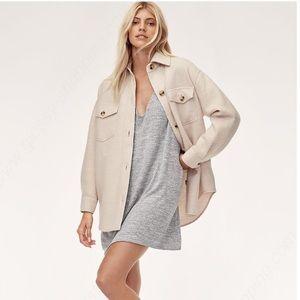 Aritzia Wilfred Free grey Gail dress size XS